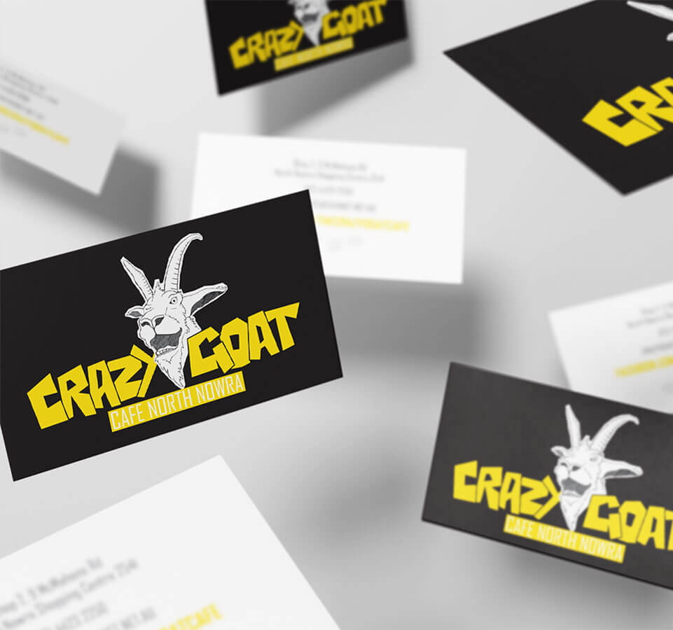 Crazy Goat Business Cards