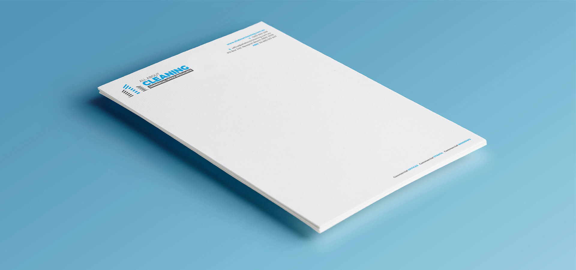 All About Cleaning Letterhead